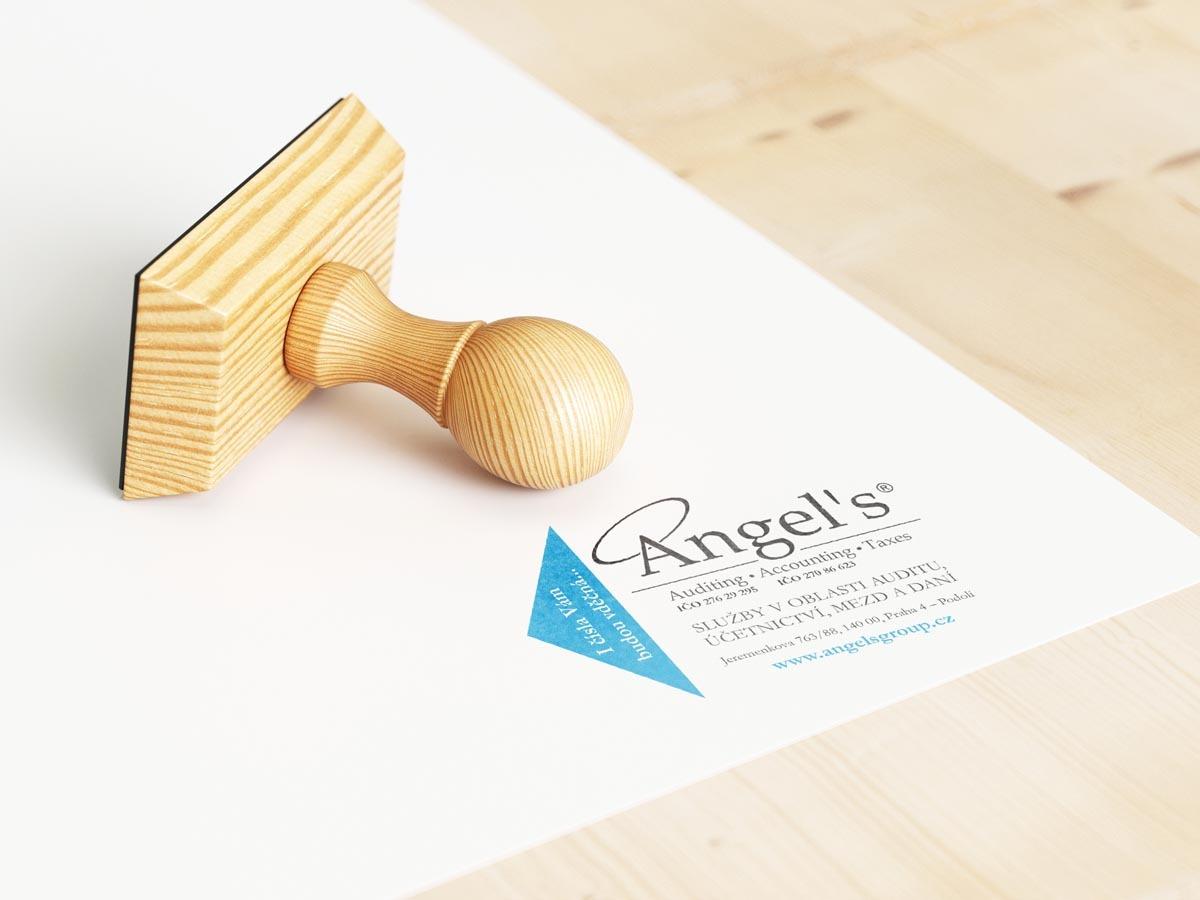 Grafický návrh razítka Angels Group