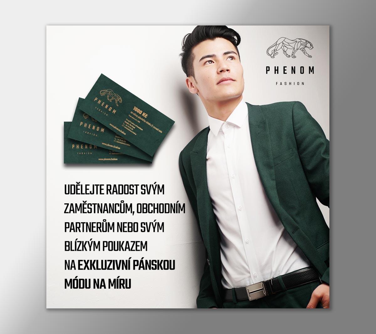 Návrh online banneru Phenom Fashion