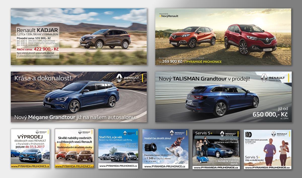 Návrh online bannerů Renault