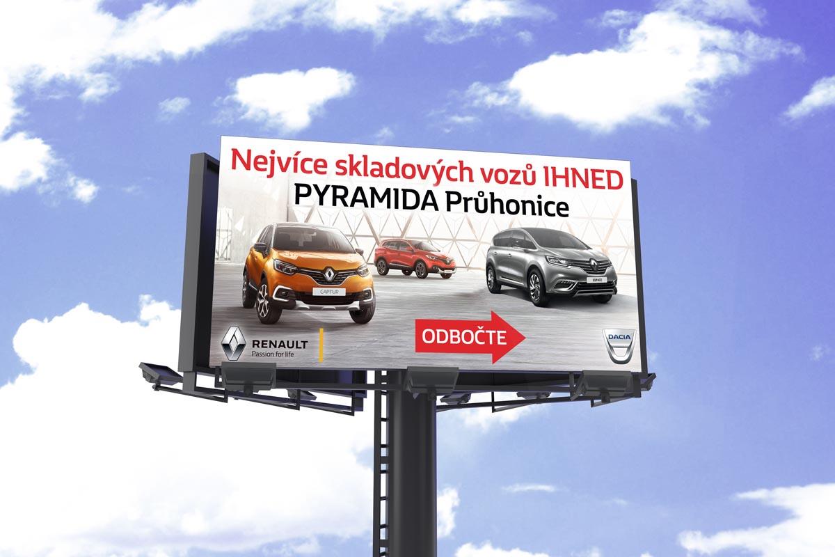 Grafický design billboardu Renault - Captur, Espace, Kadjar