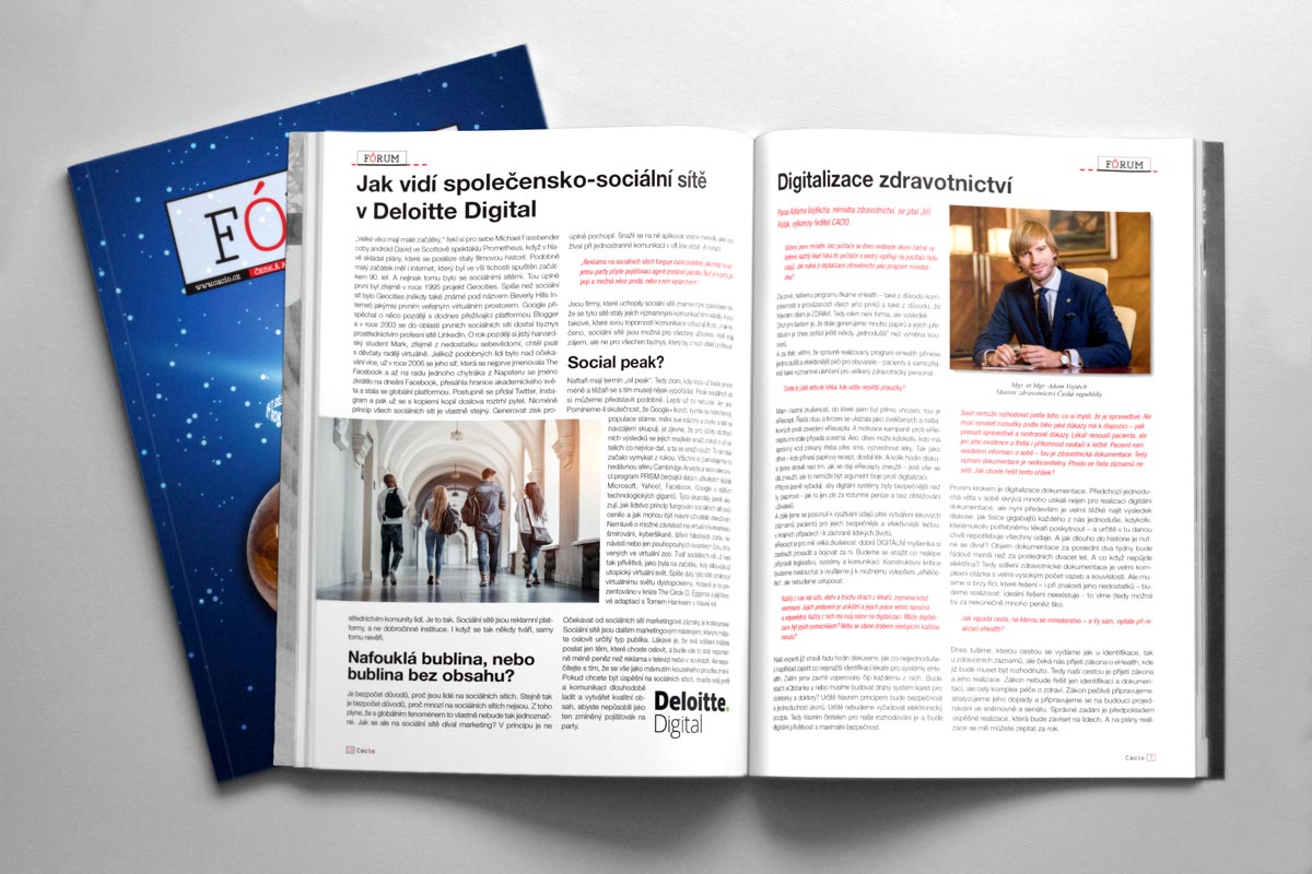 Sazba ročníkového časopisu asociace CACIO