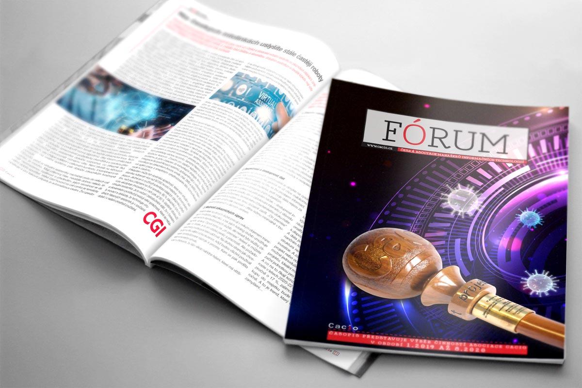 Sazba ročníkového časopisu asociace CACIO - obálka
