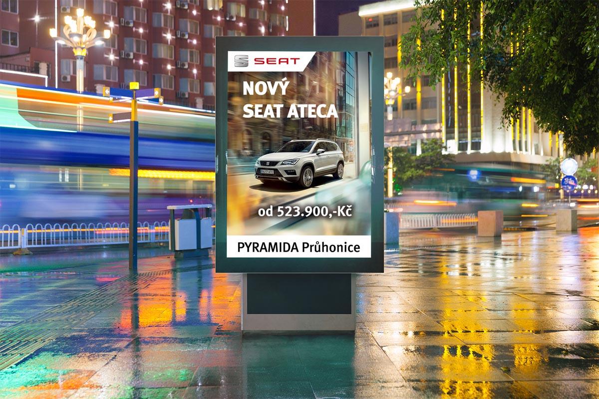 Grafický design reklamy - SEAT Ateca CLV