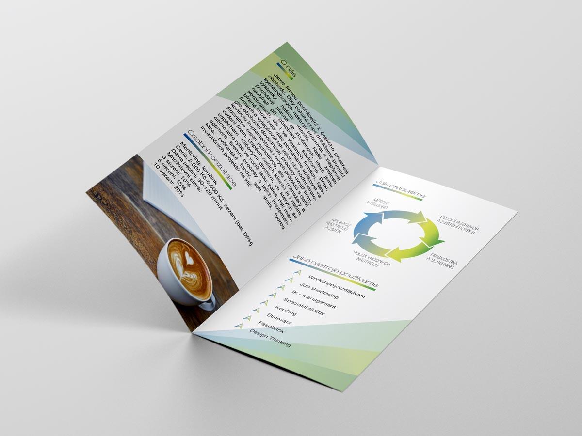 Grafický design brožury Alpha Advisory
