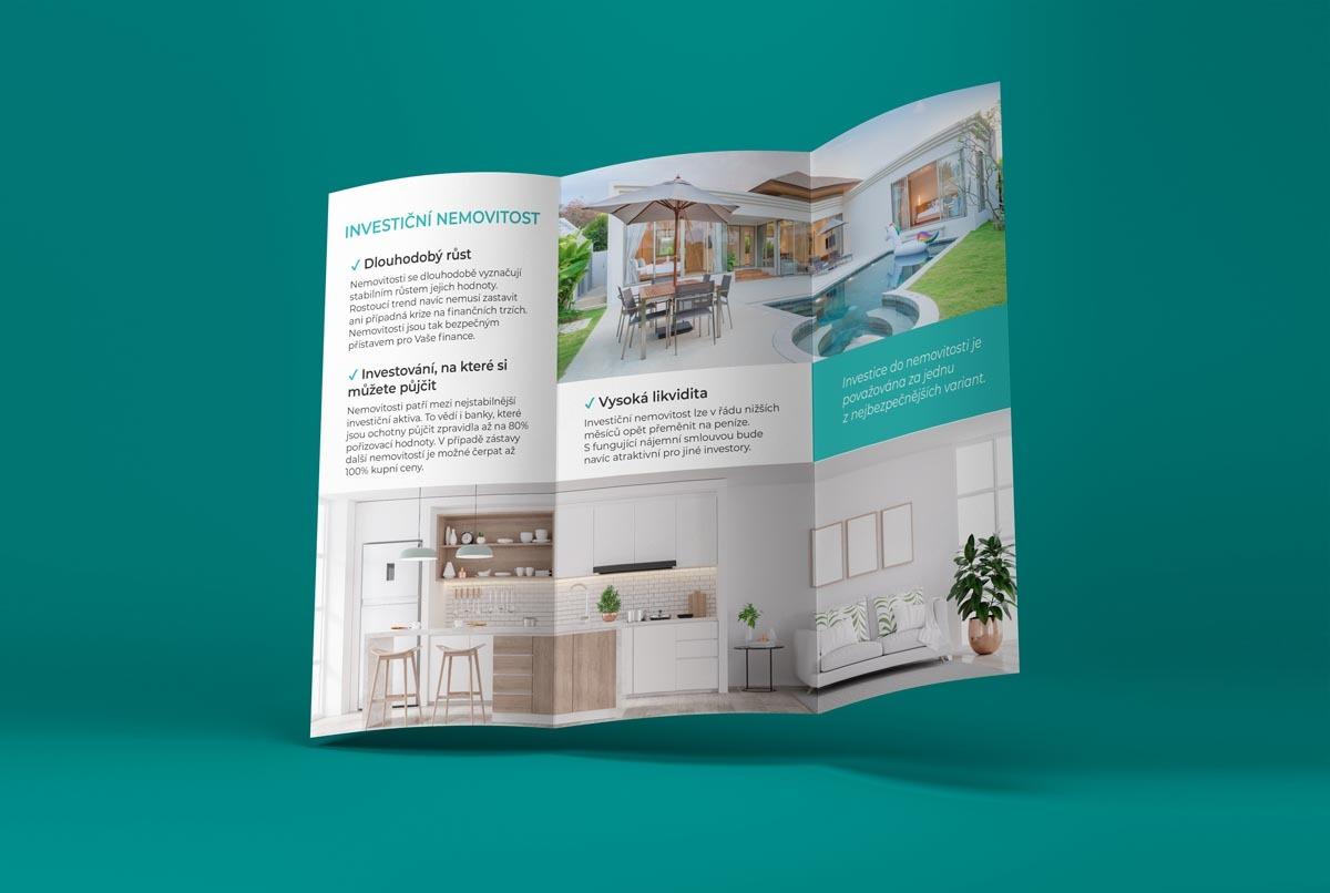 Grafický design brožury Investiční nemovistost