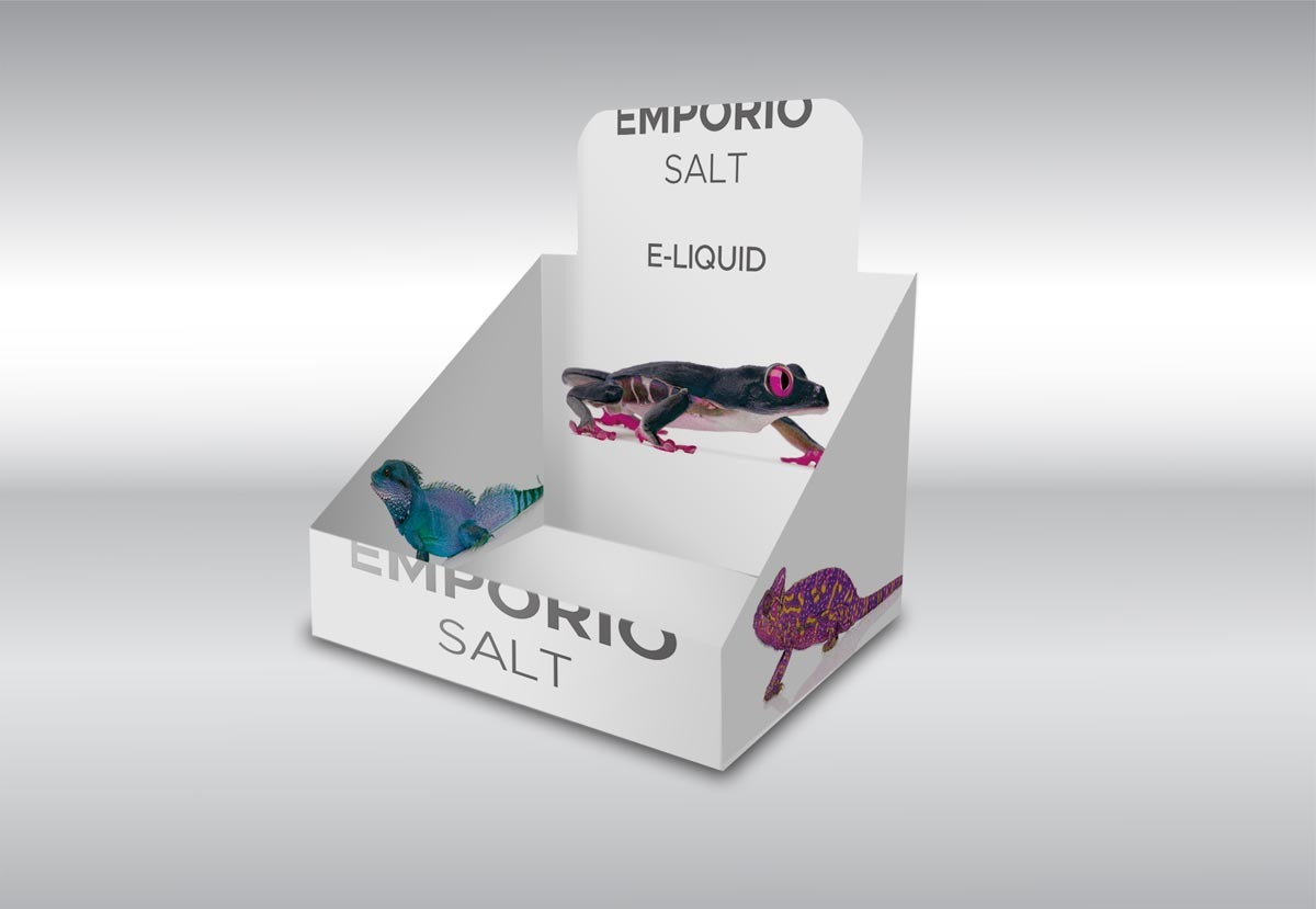 Vizualizace a návrh grafického designu transportní krabice Emporio Salt
