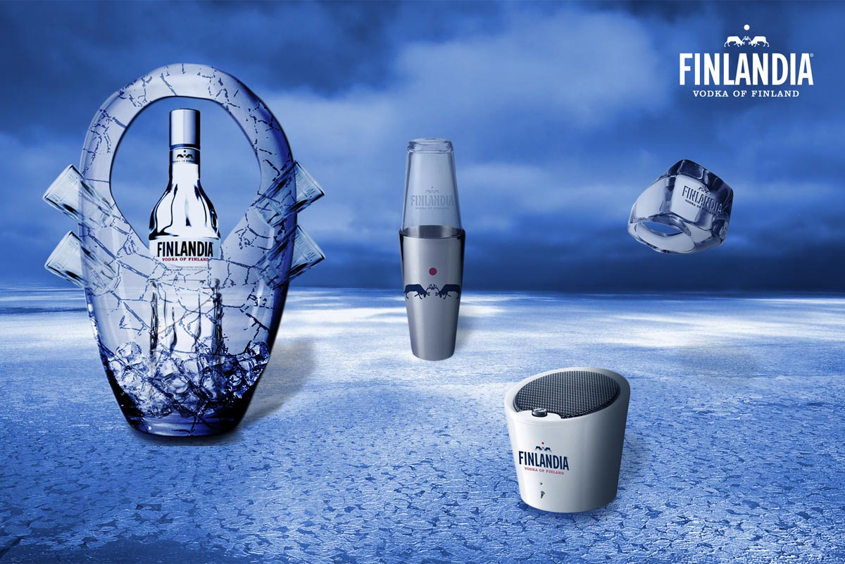 Návrh a vizualizace reklamních předmětů Finlandia