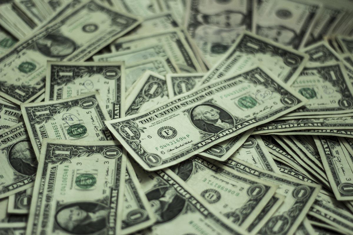 Fotografování zátiší - dolary