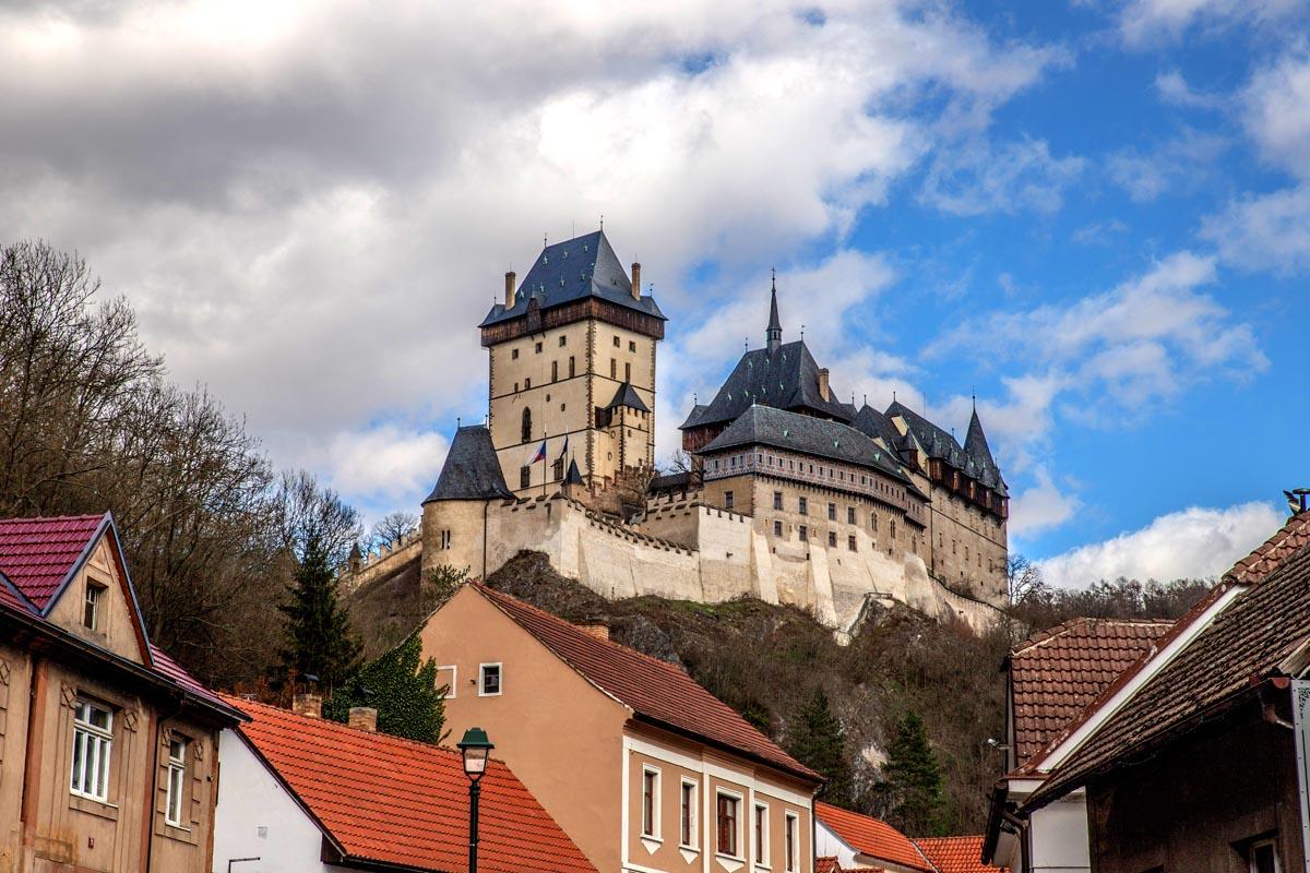 Fotografování krajiny - hrad Karlštejn