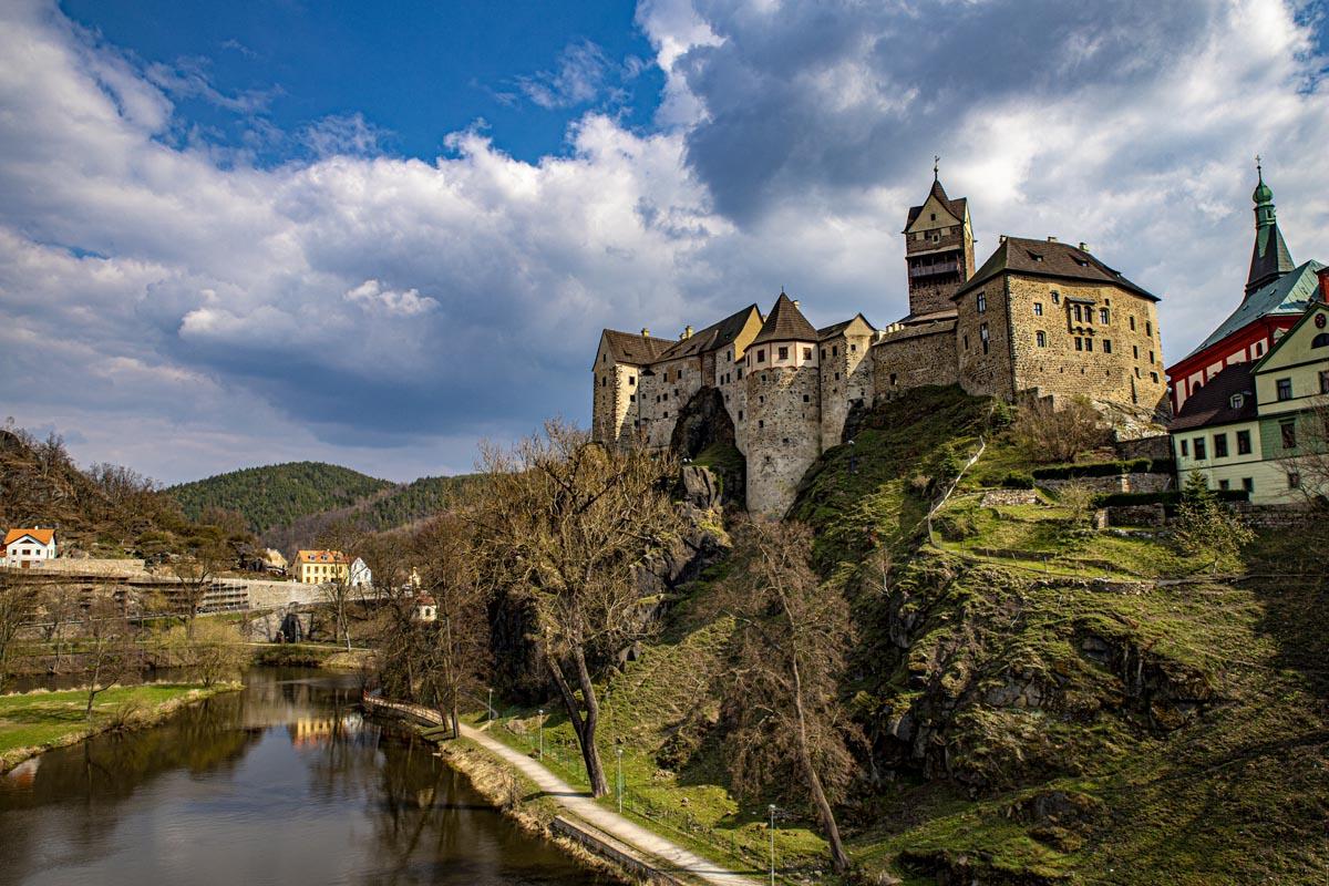 Fotografování krajiny - hrad Loket