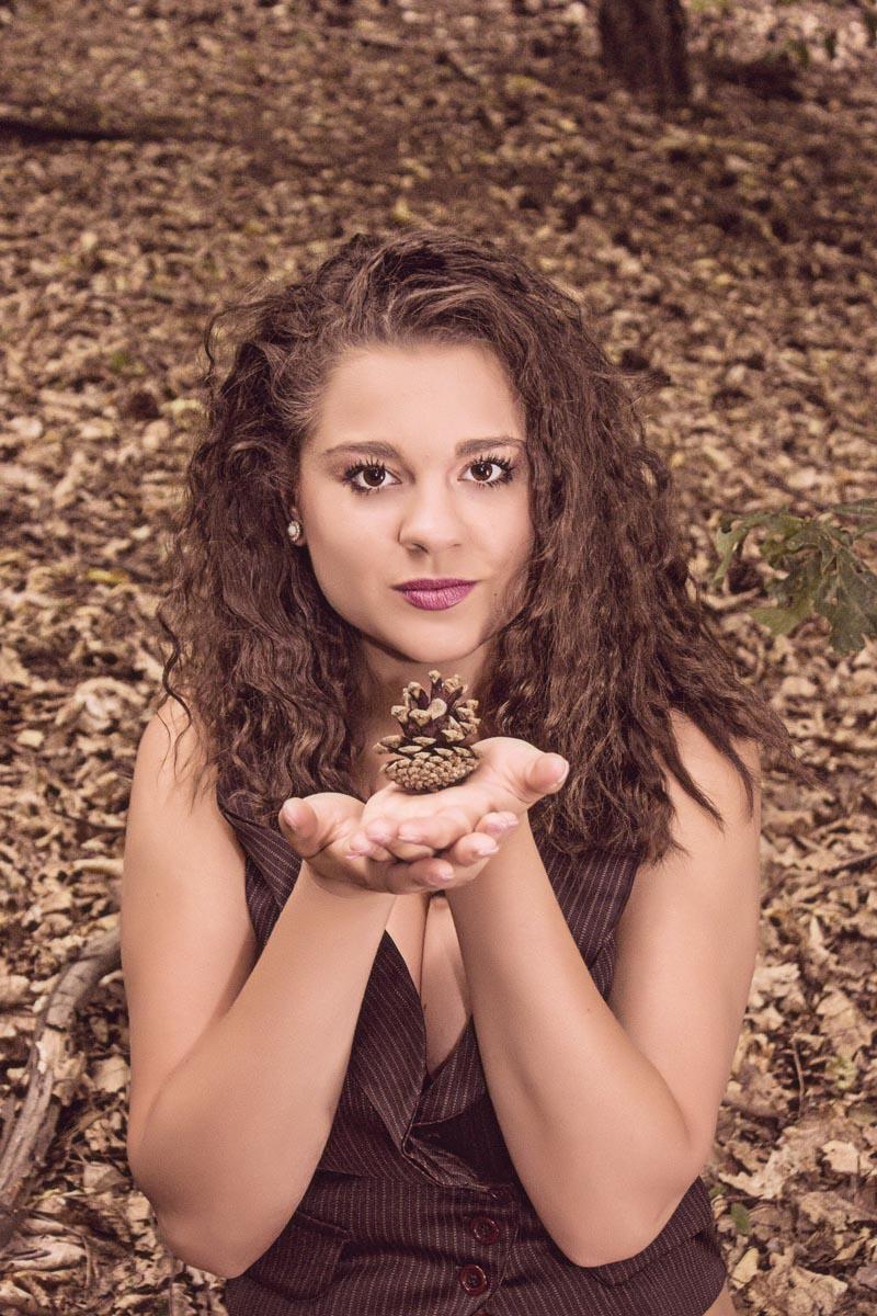 Focení portrétu v lese - Eliška Jourová