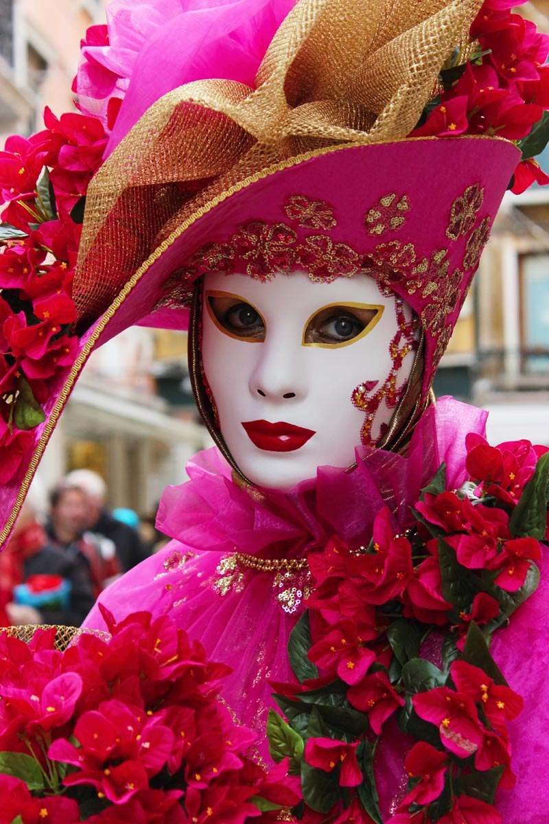 Fotografování portétů - karnevalové masky v Benátkách