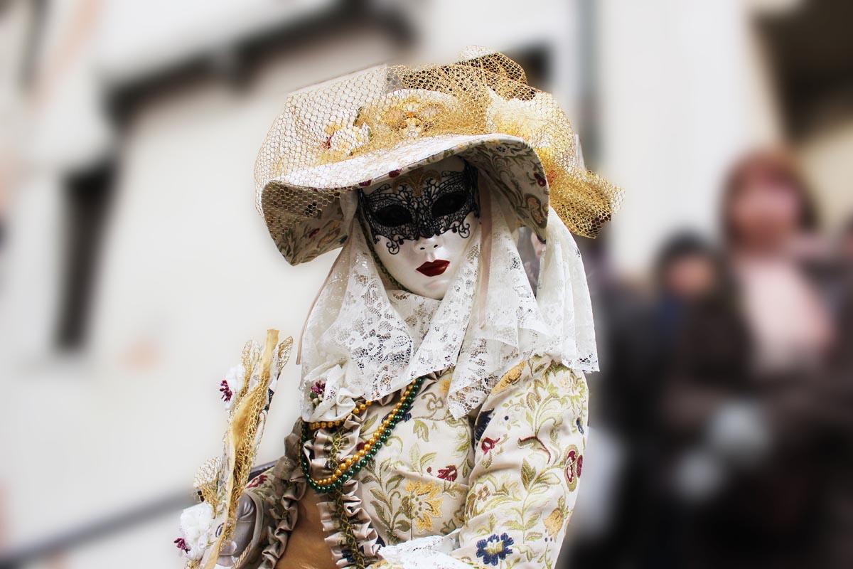 Fotografování portétů - karneval v Benátkách, masky
