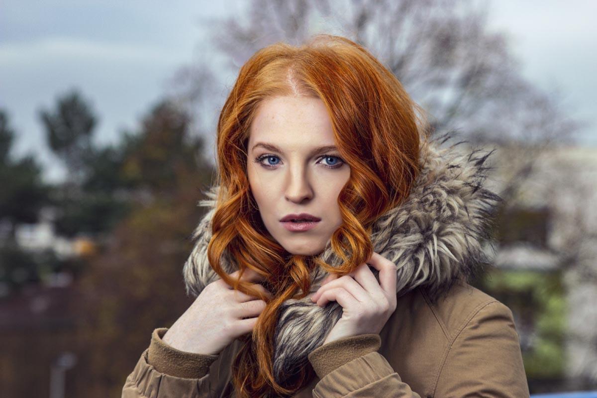 Focení portrétu - Marie Hlávková Ginger model