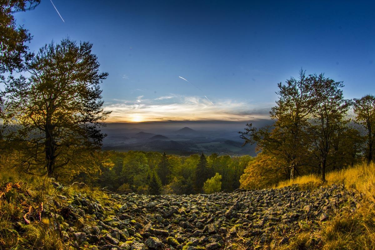 Fotografování krajiny - příroda v Českosaském Švýcarsku západ slunce