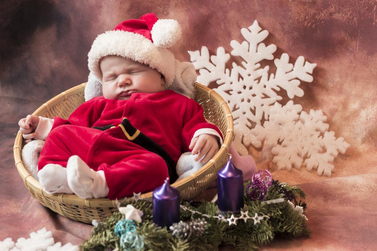 New born foto - Santa Claus