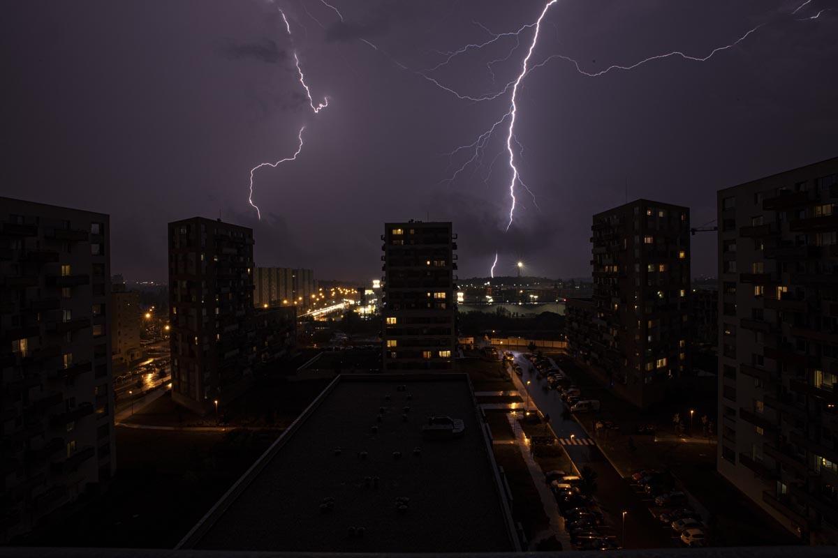 Fotografování přírody - bouřka, blesky