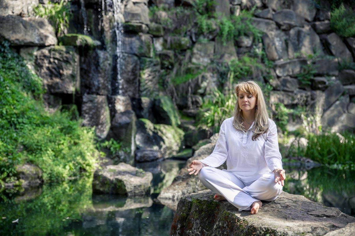Focení portrétu - meditační fotka, Martina Li
