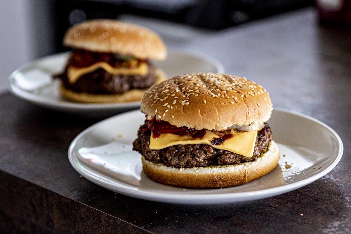 Produktové focení jídla - burger