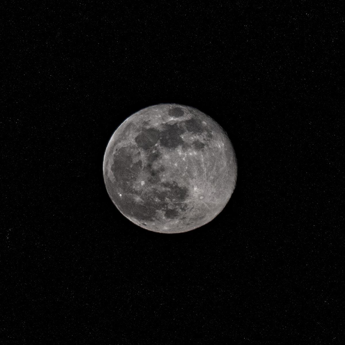 Fotografování přírody - Měsíc