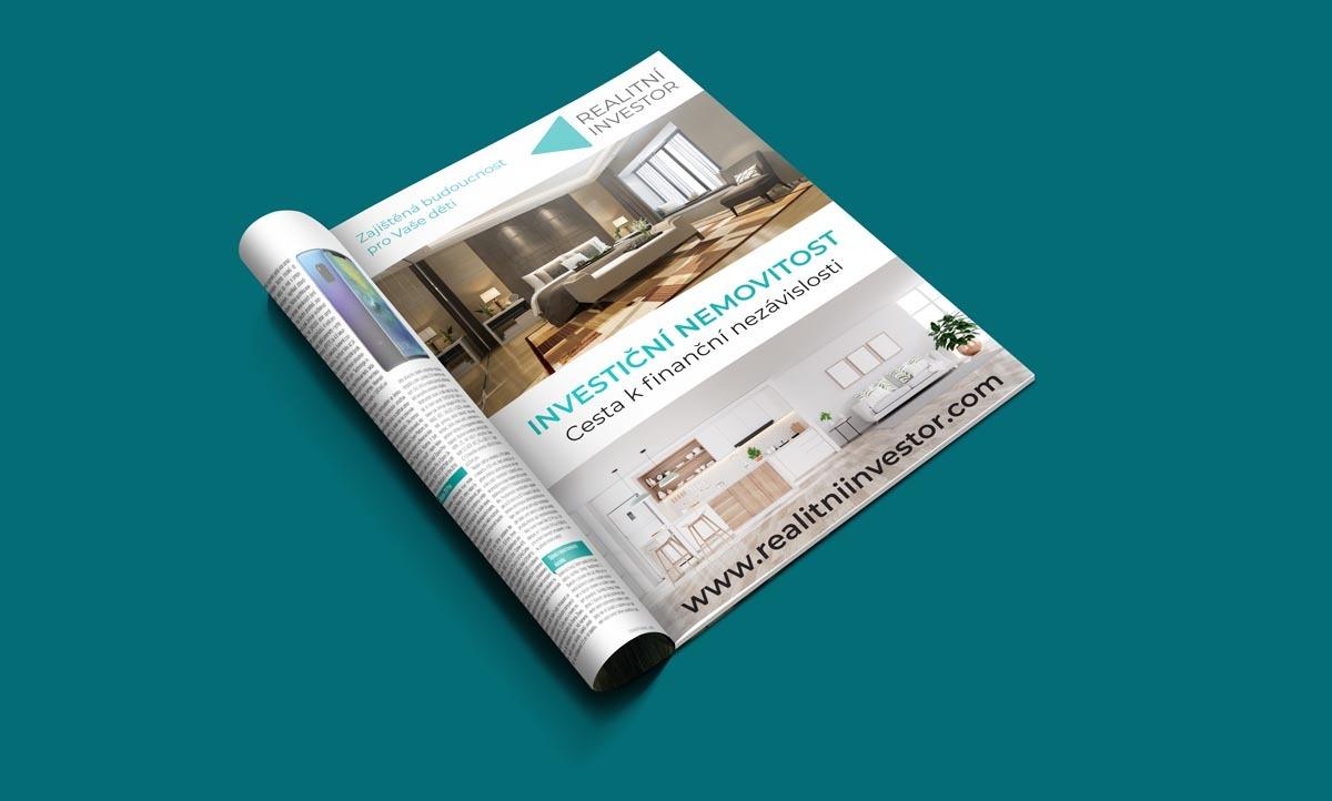 Návrh inzerce Investiční nemovitost do časopisu