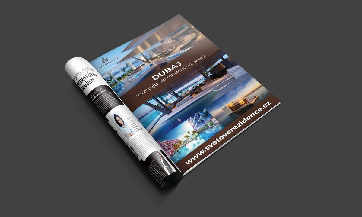 Návrh inzerce Světové rezidence - Dubaj do časopisu