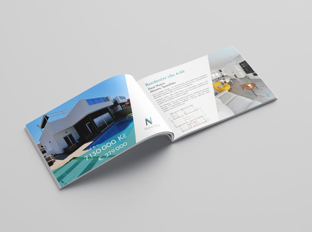 Návrh katalogu Alpha Value - Aurapark, Španělsko