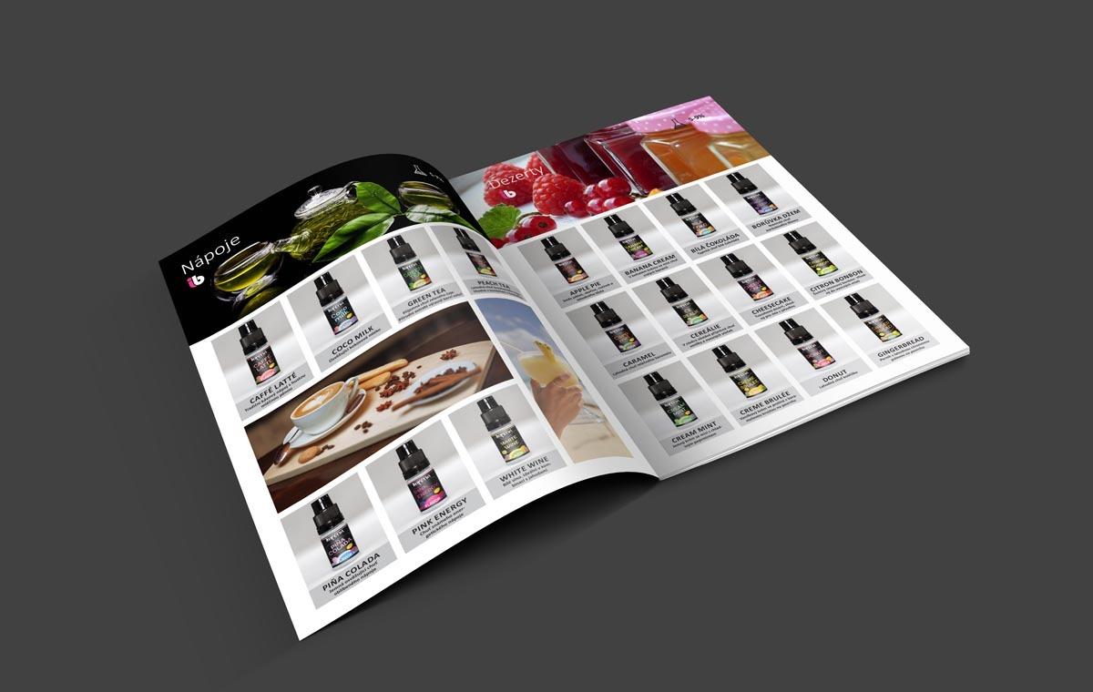 Grafický design a sazba katalogu Imperia BIOS - příchutě