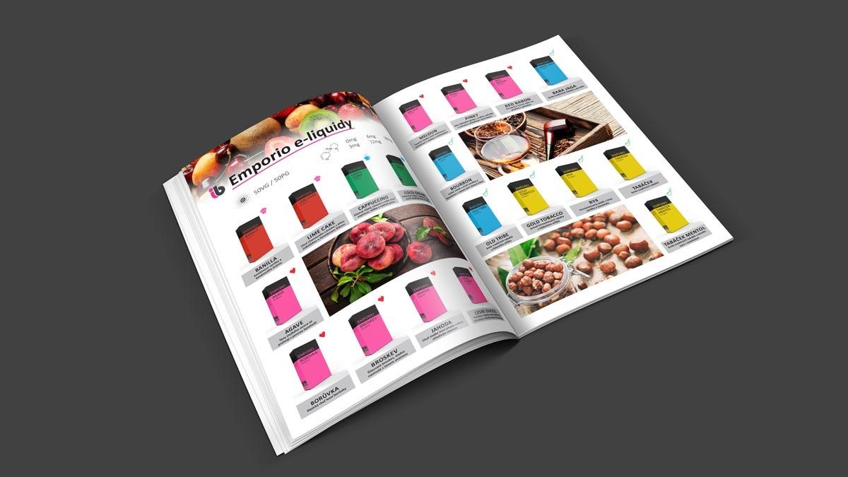 Grafický design a sazba katalogu Imperia BIOS - Emporio e-liquidy