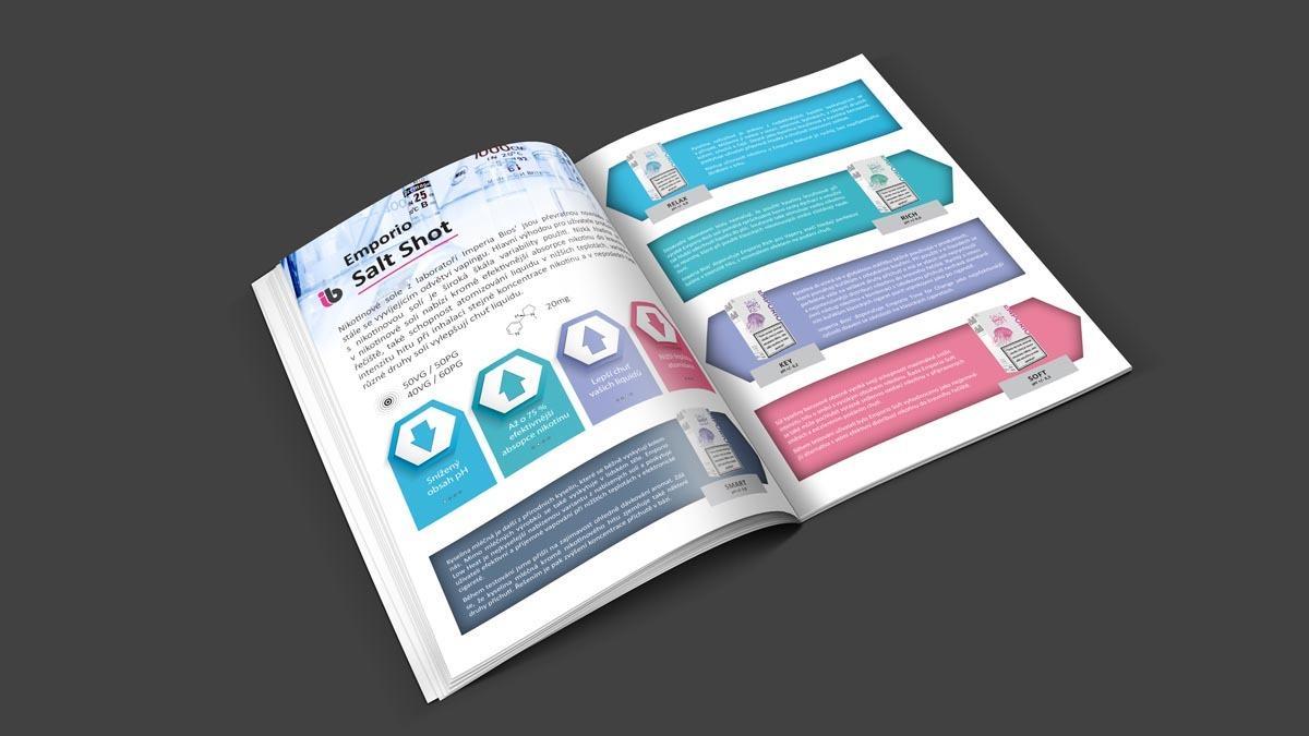 Grafický design a sazba katalogu Imperia BIOS - salt shot