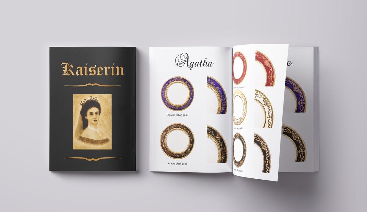 Návrh katalogu Kaiserin - luxusní porcelán