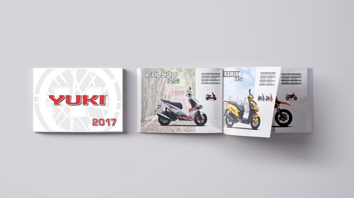 Návrh katalogu motorek a skútrů - Yuki 2017
