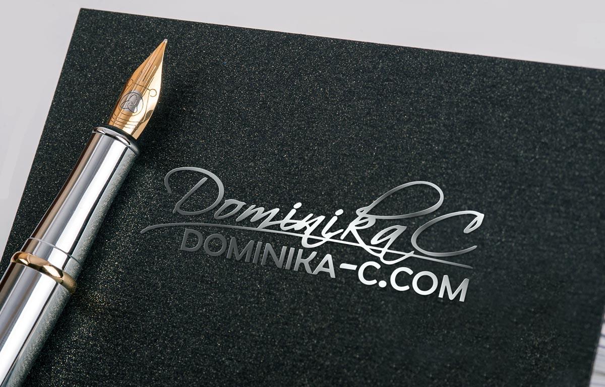 Návrh podpisového loga DominikaC