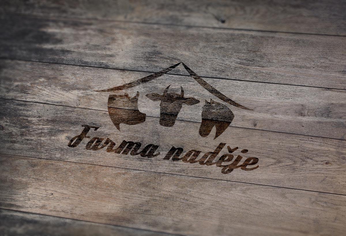Grafický design loga Farma naděje