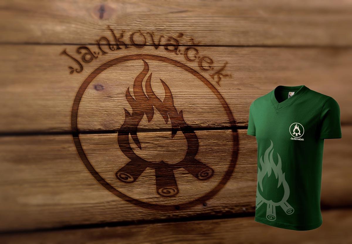 Grafický design loga dětských táborů Jankováček + návrh táborových triček
