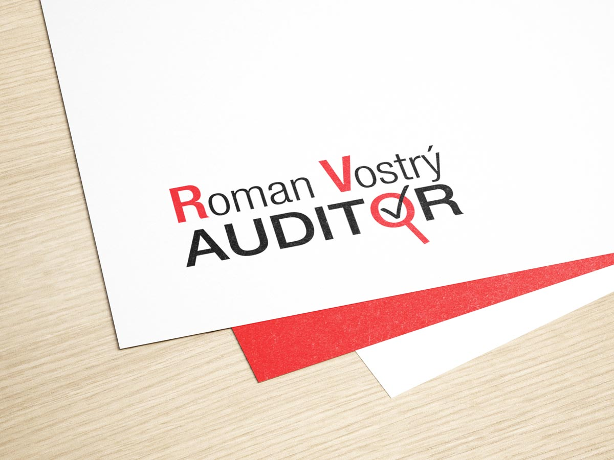 Grafický design loga Roman Vostrý Auditor