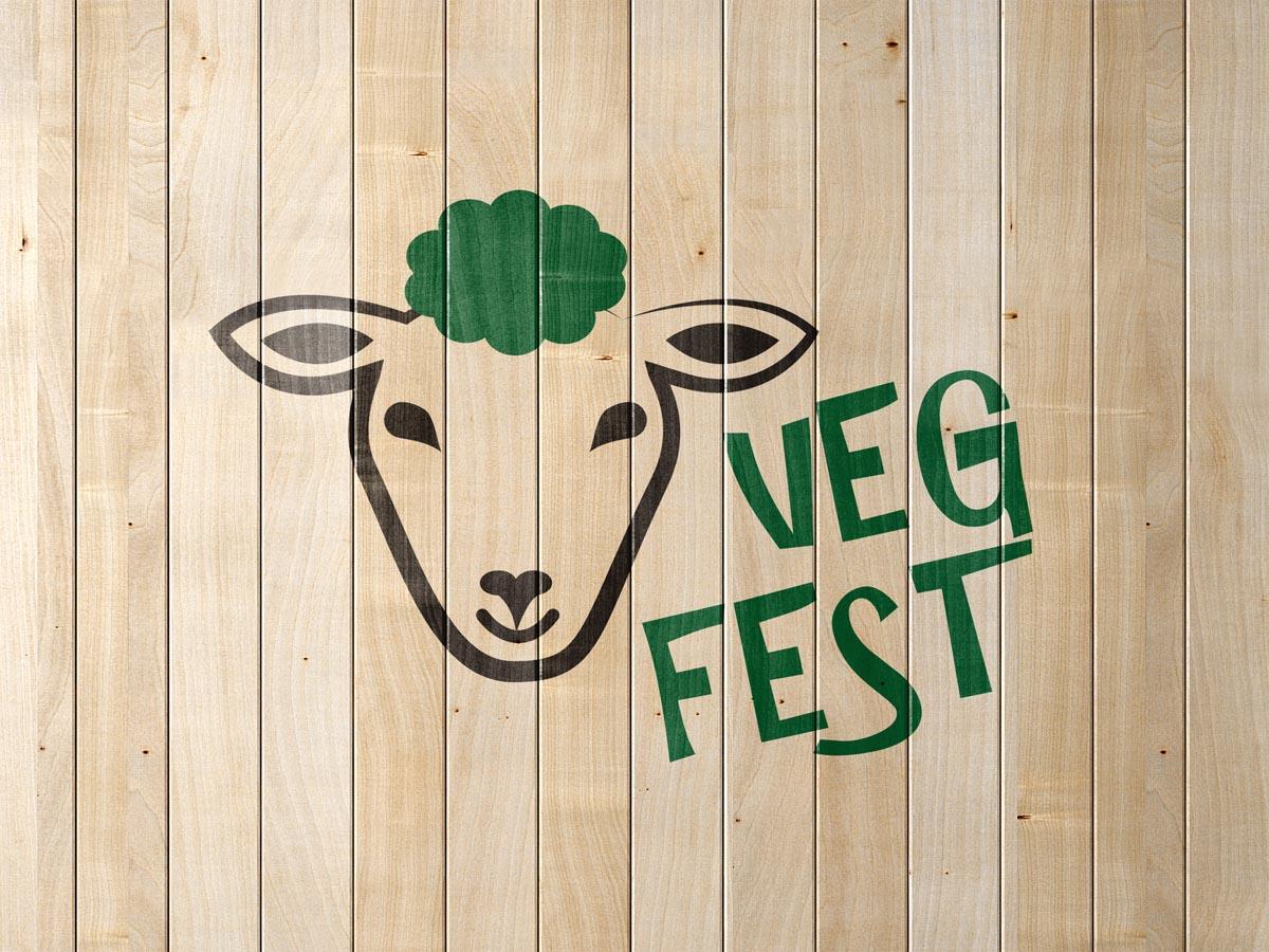 Grafický design loga Veg Fest