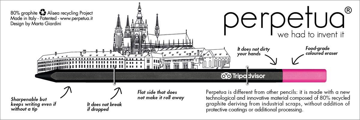 Perpetua - Tripadvisor - Ilustrace hradšany - lineart