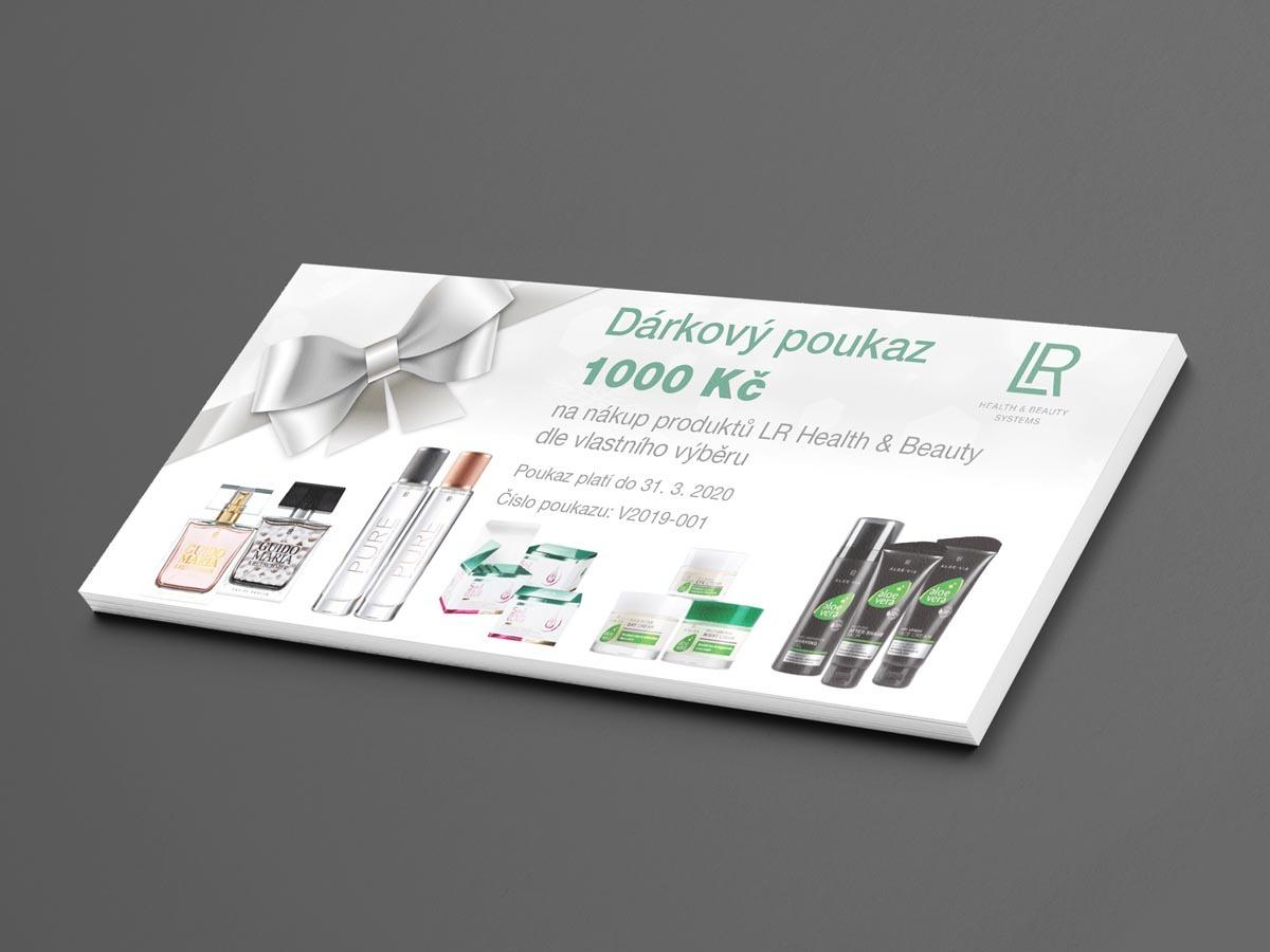 Návrh designu dárkového poukazu pro LR Health and Beauty Systems