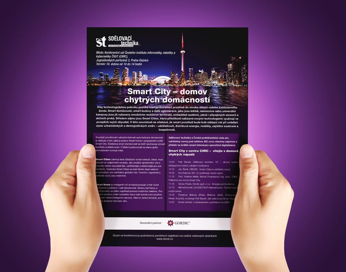 Návrh pozvánky Sdělovací techniky - Smart City - domov chytrých domácností
