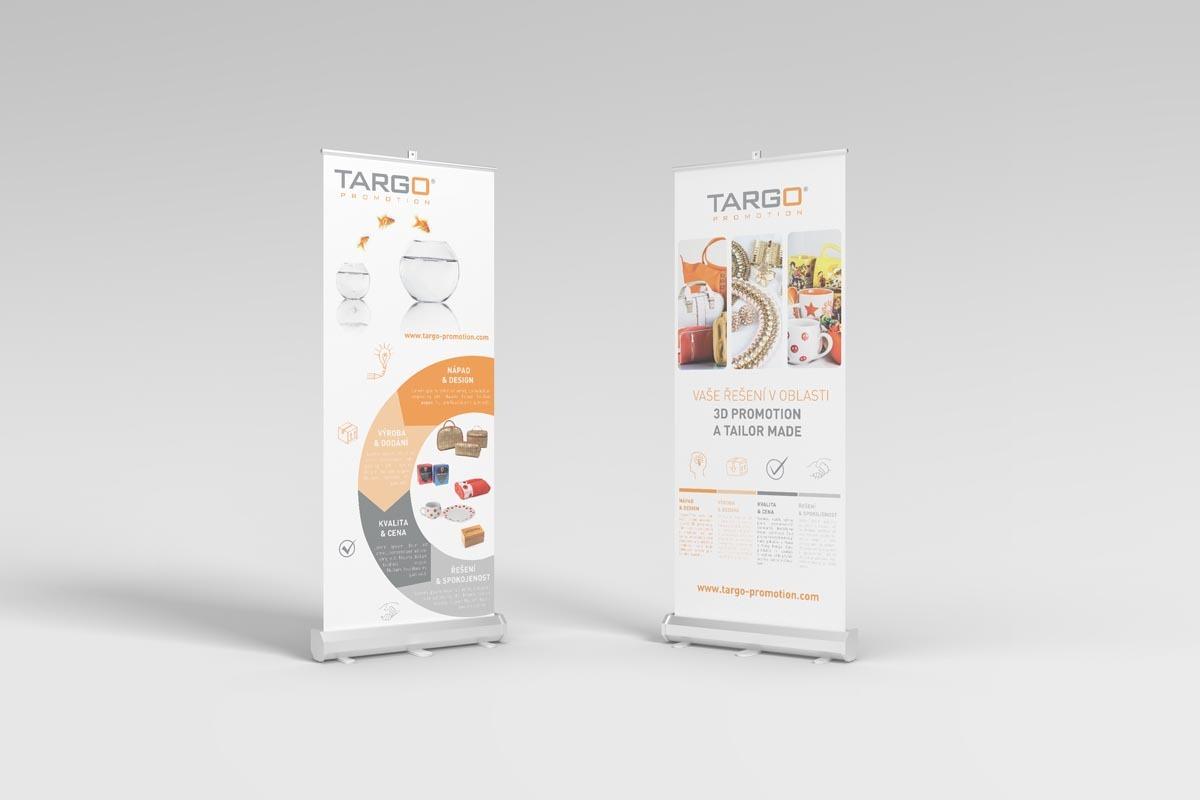 Grafický návrh roll-upu Targo Promotion