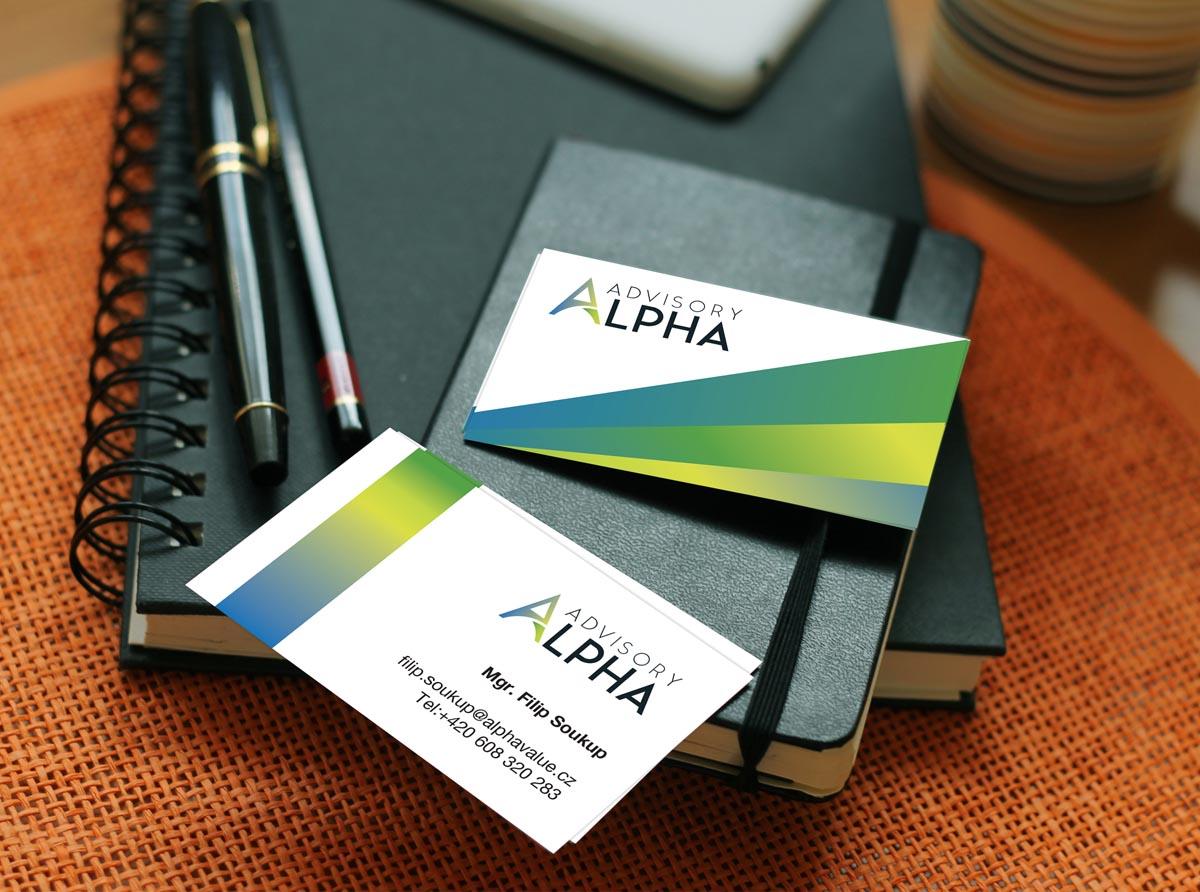 Návrh vizitek - Alpha Advisory