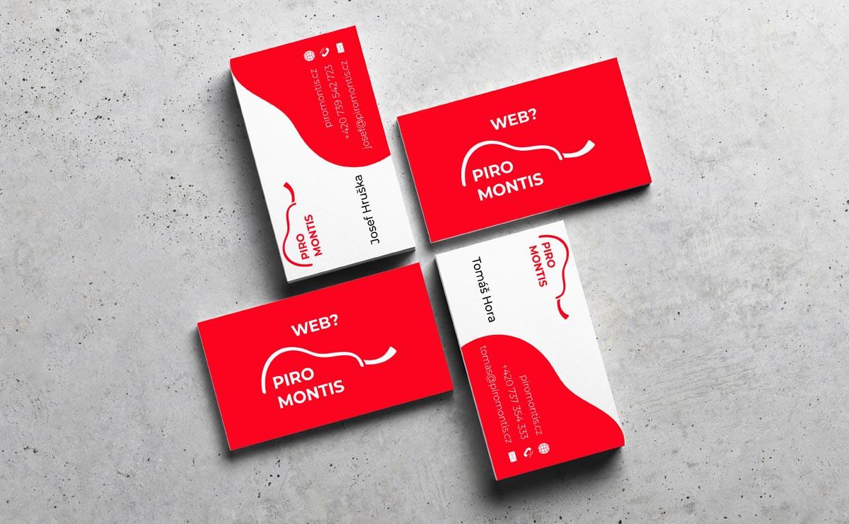 Návrh vizitek - Piro Montis