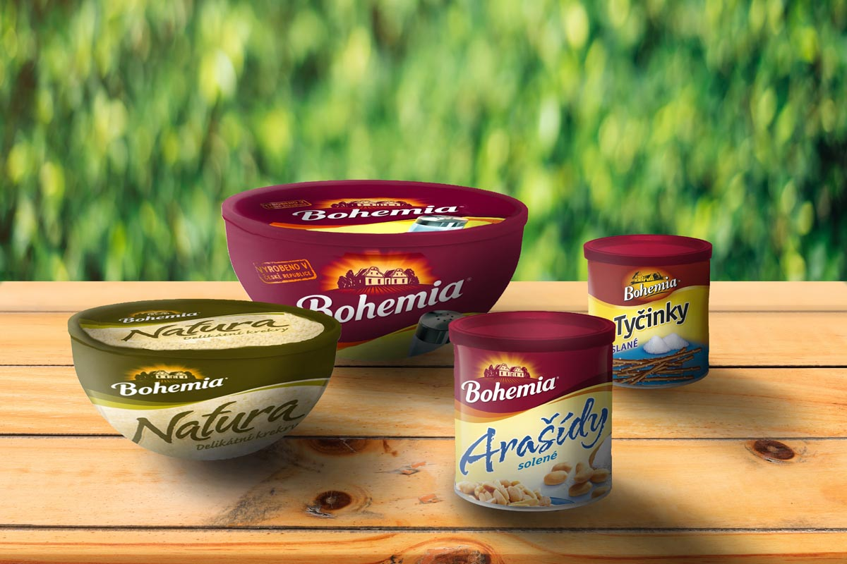 Vizualizace misek a plechovek Bohemia Chips