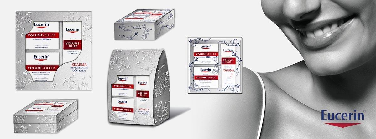 Vizualizace krabiček Eucerin, vánoční dárková krabice