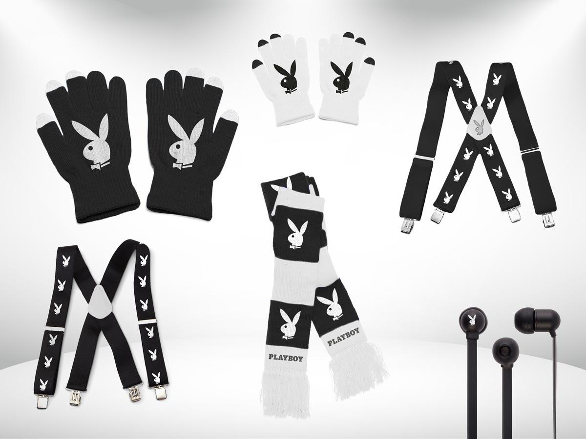 Vizualizace - Playboy black oblečení, grafický návrh reklamních předmětů