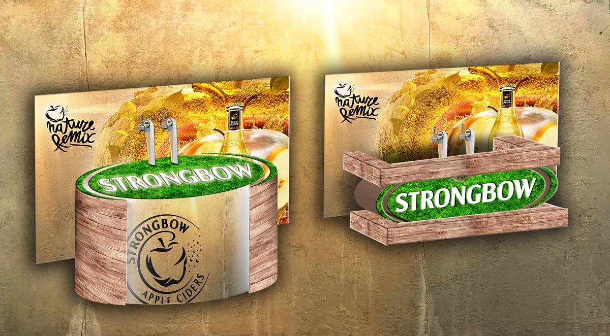 Vizualizace výčepního baru Strongbow