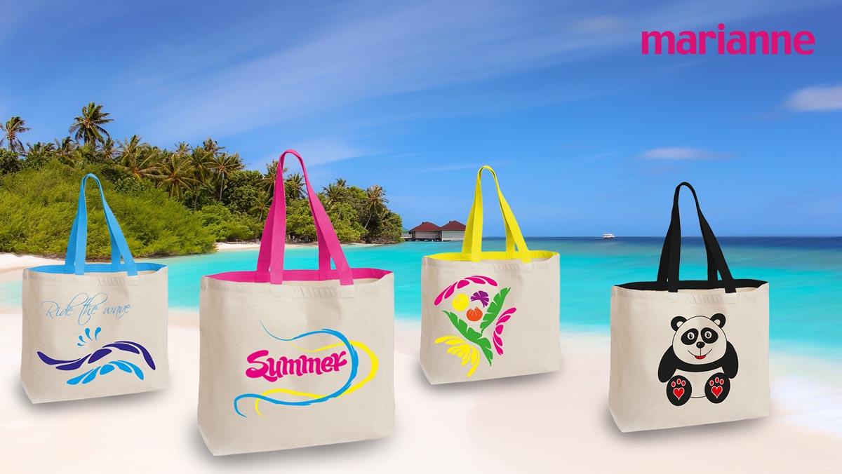 Vizualizace reklamních předmětů - plážové tašky Marianne